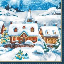 Duni Dunilin® Servietten Winter Village 40 x 40 cm 12 Stück