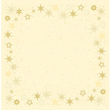 Duni Dunisilk-Mitteldecken 84 x 84 cm Star Stories Cream