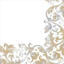 Duni Dunisoft-Servietten Festiva white 40 x 40 cm 60 Stück
