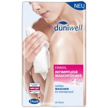 Duni Duniwell Einmal-Intimpflege Waschtücher Airlaid weiß, 20 x 25 cm, 30 Stück 20 x 25 cm