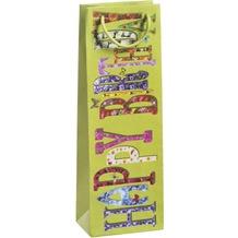 Duni Flaschentüten   Trend 12,3 x 36,2 x 7,8 cm Motiv  1 Stück Happy Birthday