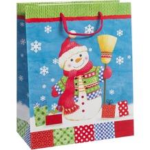 Duni Geschenktüten   Trend 26 x 32,4 x 12,7 cm Busy Snowman