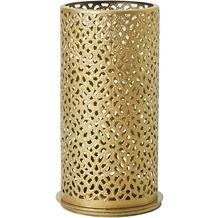 Duni Kerzenhalter Bliss gold, aus Metall für Teelichter oder LED 140x75mm