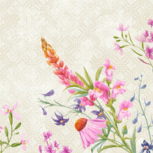 Duni Klassikservietten Floret 40 x 40 cm 50 Stück