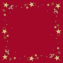 Duni Mitteldecken Motiv Walk of Fame Red 84 x 84 cm Dunicel 20 Stück