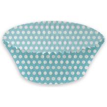 Duni Papier Backförmchen 25 x 45 mm Mint Blue Dots, 100 Stück