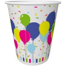 Duni Pappe Becher Balloons & Confetti 20 cl 10 Stück