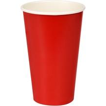 Duni Pappe/PLA Bio Pappbecher Bio Pappbecher Red Cup 50 cl 10 Stück