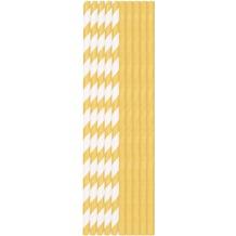 Duni Pappe Strohhalme Gold & Weiß 19,6 cm 20 Stück