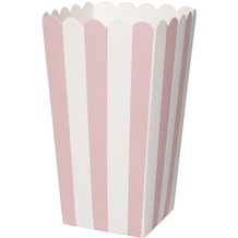 Duni Popcorntüte 9 x 16 cm Pink Stripe, 6 Stück
