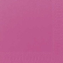 Duni Cocktail-Servietten 3lagig Zelltuch Uni fuchsia, 24 x 24 cm, 250 Stück