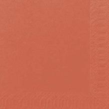 Duni Cocktail-Servietten 3lagig Zelltuch Uni mandarin, 24 x 24 cm, 250 Stück