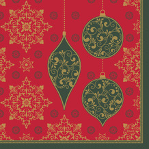 Duni Servietten Tissue 33 x 33 cm X-Mas Deco Red 20er Pack
