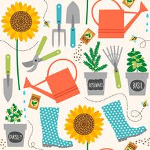 Duni Servietten Tissue Gardening 24 x 24 cm 20 Stück