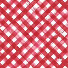 Duni Servietten Tissue Red Checks 33 x 33 cm 20 Stück