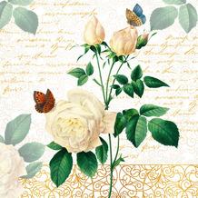Duni Servietten Tissue Rose lace 33 x 33 cm 20 Stück