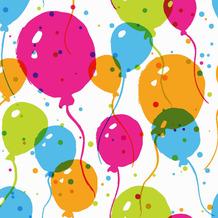 Duni Servietten Tissue Splash balloons 33 x 33 cm 20 Stück