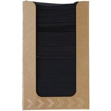 Duni Spenderboxen 1/4 Falz Dunisoft 20 x 20 cm Fingerfood Black, 100 Stück