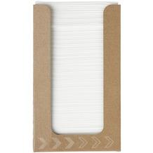Duni Spenderboxen 1/4 Falz Dunisoft 20 x 20 cm Fingerfood White, 100 Stück