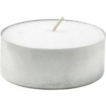 Duni Teelichte mit Metallhülse, ca. 8 Std weiß, 20 Stück