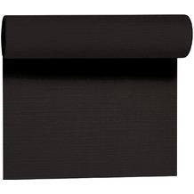 Duni Tête-à-Tête-Tischläufer aus Evolin alle 1,20 m lang perforiert, Uni black, 41 x 2400 cm
