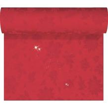 Duni Tête-à-Tête-Tischläufer Sensia Brilliance rot mit Glanzeffekt, 45 x 2400 cm