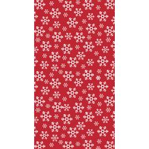 Duni Tischdecken Dunicel® 118 x 180 cm Red Snowflakes 1er Pack
