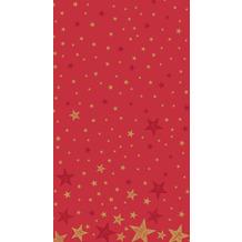 Duni Tischdecken Dunicel® 138 x 220 cm Shining Star Red 1er Pack
