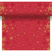 Duni Tischläufer 3 in 1 Dunicel® 0,4 x 4,8 m Shining Star Red 1er Pack
