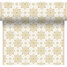 Duni Tischläufer 3 in 1 Dunicel® 0,4 x 4,8 m X-Mas Deco Cream 1er Pack