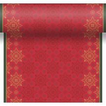 Duni Tischläufer 3 in 1 Dunicel® 0,4 x 4,8 m X-Mas Deco Red 1er Pack