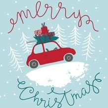 Duni Tissue Servietten Christmas Car 33 x 33 cm 20 Stück
