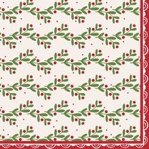Duni Tissue Servietten Happy Holly 33 x 33 cm 20 Stück