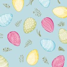 Duni Tissue Servietten Pastel Eggs 24 x 24 cm 20 Stück