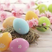 Duni Tissue Servietten Pastel eggs 33 x 33 cm 20 Stück