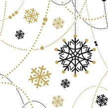 Duni Tissue Servietten Snow Necklace White 24 x 24 cm 20 Stück