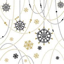 Duni Tissue Servietten Snow Necklace White 33 x 33 cm 20 Stück