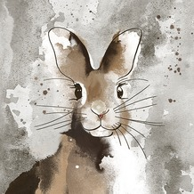 Duni Tissue Servietten Watercolour bunny 33 x 33 cm 20 Stück