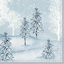 Duni Zelltuchservietten 24 x 24 cm Winter Mornings