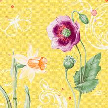 Duni Zelltuchservietten Spring Lilies 33 x 33 cm 50 Stück