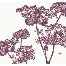 Duni Zelltuchservietten Yarrow 33 x 33 cm 1/4 Falz 50 Stück