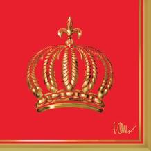 Duni Cocktail-Servietten Glööckler Motiv The Crown Red 24 x 24 cm 20 Stück Tissue 3-lagig