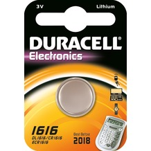 Duracell Batterie Lithium, Knopfzelle, CR1616, 3V Electronics, Retail Blister (1-Pack)