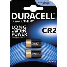 Duracell Batterie Lithium, Photo, CR2, 3V Ultra, Retail Blister (2-Pack)