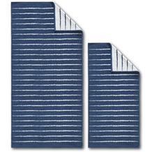 Dyckhoff Frottierserie Blue Island blau gestreift Handtuch 50 x 100 cm, 6 Stück