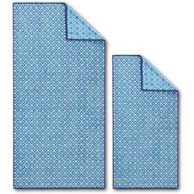 Dyckhoff Frottierserie Blue Island hellblau gemustert Handtuch 50 x 100 cm, 6 Stück