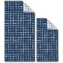 Dyckhoff Frottierserie Blue Island blau kariert Handtuch 50 x 100 cm, 6 Stück