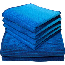 Dyckhoff Frottierserie Colori blau Handtuch 50 x 100 cm, 6 Stück