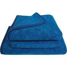 Dyckhoff Frottierserie Diagonals blau Handtuch 50 x 100 cm, 6 Stück