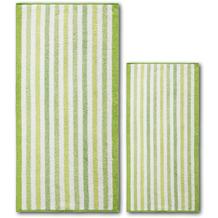 Dyckhoff Frottierserie Green Paradise grün gestreift Handtuch 50 x 100 cm, 6 Stück